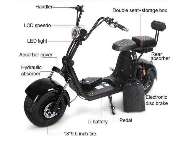 Citycoco 2000w Electric Scooter Big Wheel